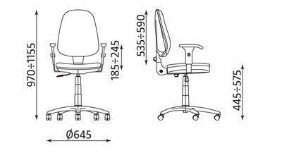 Krzesło biurowe, obrotowe PRESTIGE profil R3W ts02 z mechanizmem CPT - Nowy  Styl | ERGOMEBLE