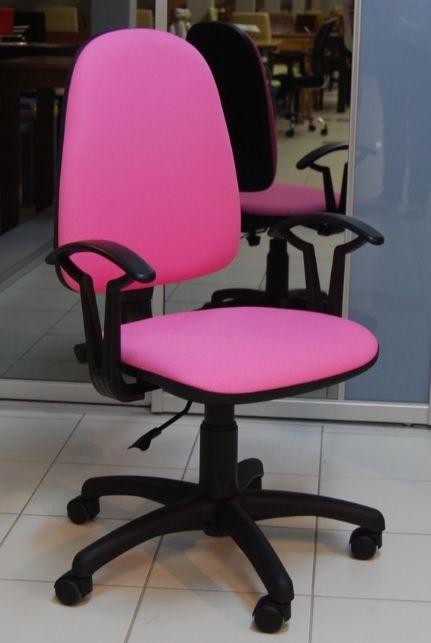 Krzesło biurowe obrotowe Akord YB371 Nowy Styl różowy