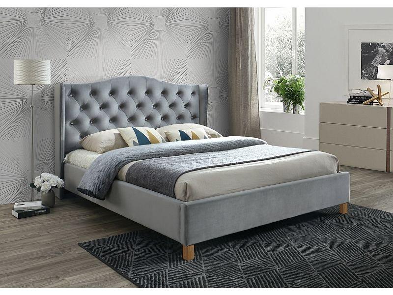 łóżko Aspen Velvet 160x200 Signal Kolory