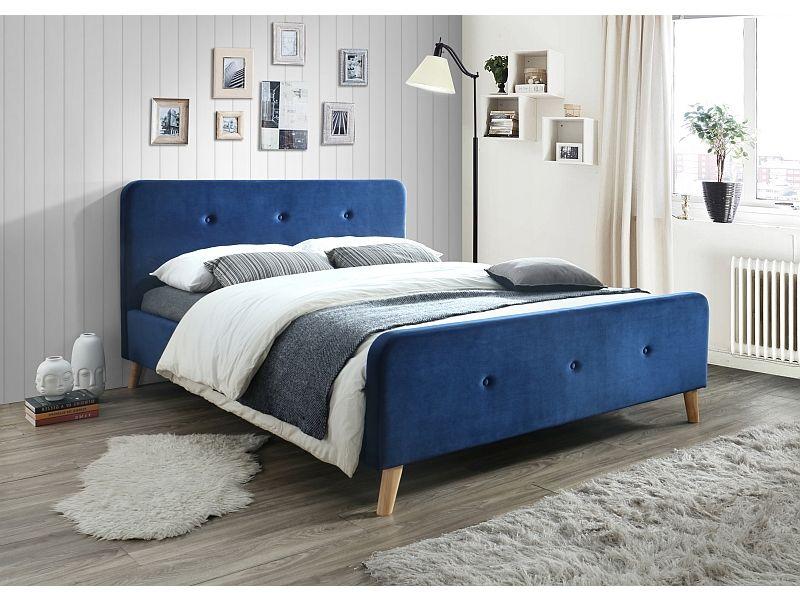 łóżko Malmo Velvet 160x200 Signal Kolory