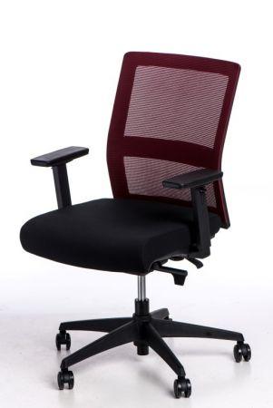Fotel biurowy Press czerwonyczarny