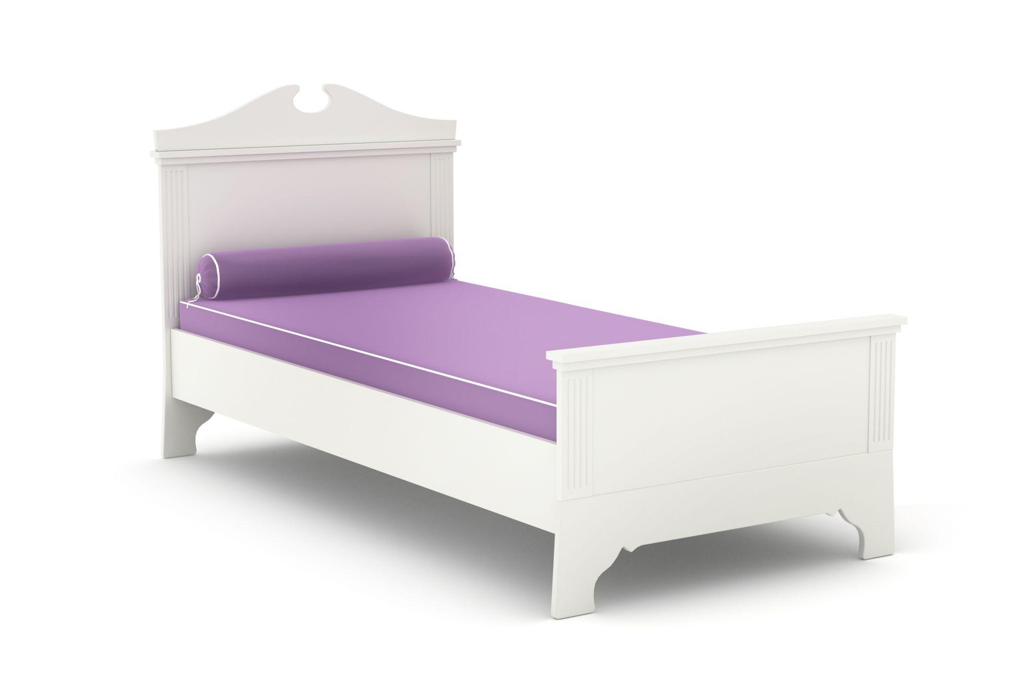 łóżko 120x200 Clariss Timoore Białe